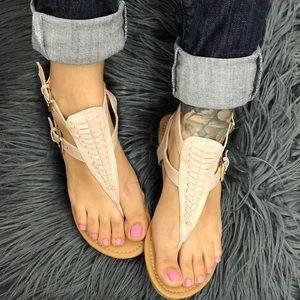 Shoes - Nude color sandals